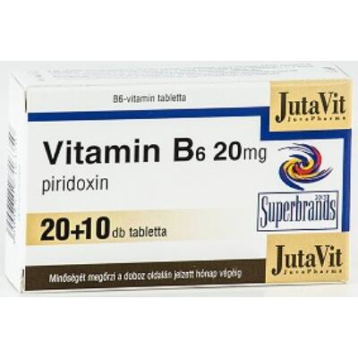 Jutavit Vitamin B6 20 Mg Tabletta 30x