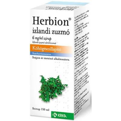 Herbion Izlandi Zuzmó 6mg/Ml Szirup 150ml